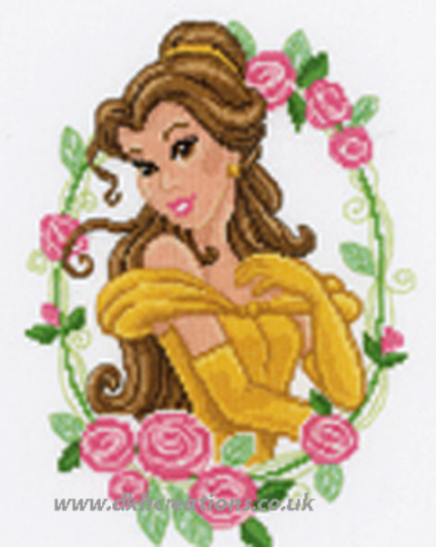 Disney Princesses Belle With Flowers Cross Stitch Kit